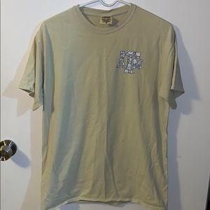 super soft yellow comfort colors a&m t-shirt